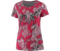 T-Shirt Damen grau / rot