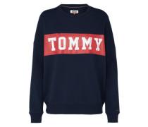 Sweatshirt mit Logo-Print navy / rot