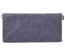 Ronja Wing Vintage Clutch Tasche 29 cm blau