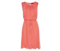 Kleid aus Seidenchiffon orangerot