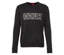 Sweatshirt 'Dicagolo' schwarz / silber