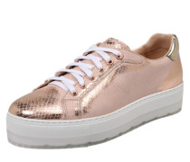 Sneakers mit Reptil-Design bronze