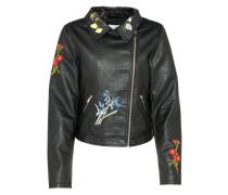 Bikerjacke 'florala' schwarz