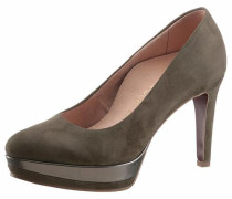 High-Heel-Pumps 'Heart & Sole' oliv