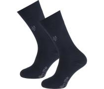 Larsen 2 Paar Socken blau