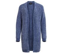 Offene Strick-Cardigan blau