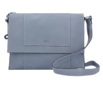 'Prepared' Umhängetasche Leder 31 cm blau / rauchblau