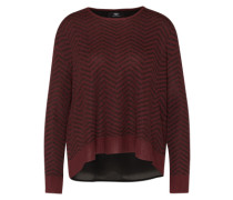 'Ceres' Pullover in Layer-Optik rot