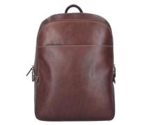 'Toscana' Rucksack Leder 40 cm Laptopfach braun / kastanienbraun