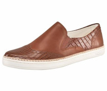 Slipper 'Hadira Croco' braun