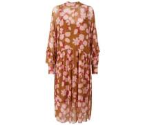 Kleid Blumen-Mesh- gelb