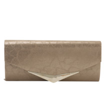 Clutch mit Metallic-Optik dunkelbeige