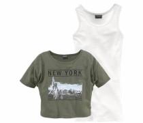 Shirt & Top (Set 2 tlg.) khaki