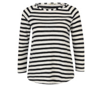 Longsleeve 'Heavy Jersey Longsleeve striped' weiß / blau