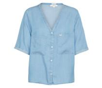 Cropped Bluse blue denim