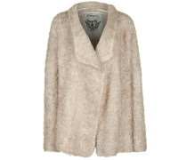Strickjacke 'teddy' beige