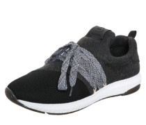 Sneaker in Mesh-Look schwarz