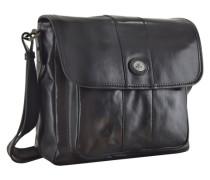 Passpartout Messenger Umhängetasche Leder 30 cm schwarz