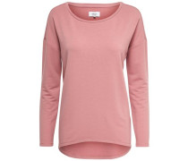 Detail-Sweatshirt pink