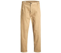 Chino ' Trendy Jeff Crop AKM Kelp' braun