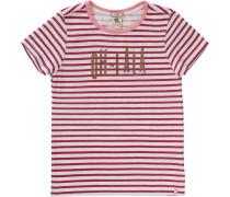 T-Shirt für Mädchen rot / naturweiß