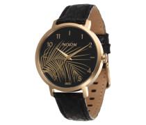 Analog Armbanduhr (Gehäusedurchmesser: 38mm) gold / schwarz