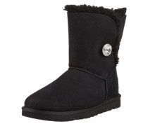 Fellstiefel 'Bailey Button Bling' schwarz