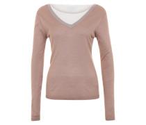 Edler V-Ausschnitt-Pullover 'VILoca' grau