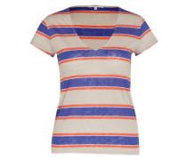 Streifen-Shirt 'celeste' blau / grau