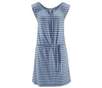 Strandkleid taubenblau / weiß