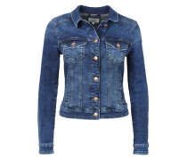 Kurze Stretch-Jeansjacke blue denim