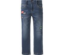 Jeans Regular Fit mit Patches für Jungen blau