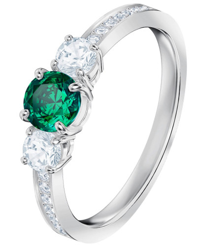 Ring 'Attract Trilogy' grün / silber