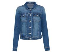Kurze Jeansjacke blau