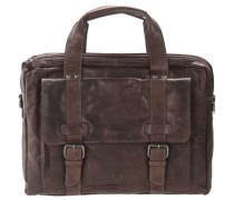 Bronco Business Handtasche Leder 41 cm dunkelbraun
