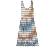 """Kleid """"thdw Stripe Midi Dress S/L 17"""" hellblau / gelb / hellgrün / hellrot"""