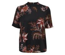 T-Shirt rostrot / schwarz