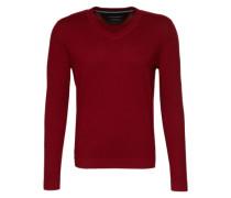 Pullover V-neck rot