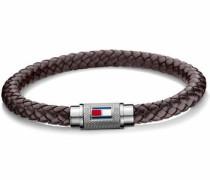 Armband 'Casual Core 2700998' dunkelbraun / silber