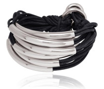 Lots of Cords Armband schwarz / silber