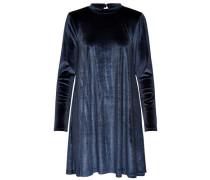Samt Kleid blau
