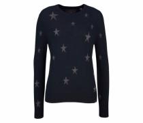Jacquardpullover 'star Jaquard Knit' navy / silber