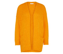 Grobstrickjacke mit Alpaka 'boolder' orange