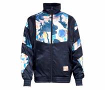 Trainingsjacke marine / hellblau / rosa