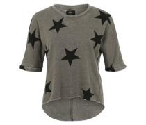 Sweatshirt 'Sienne' rauchgrau / schwarz