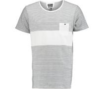 T-Shirt 'striped' weiß