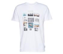 T-Shirt 'collage' weiß
