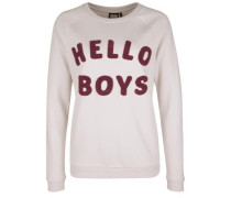 Sweatshirt 'hello Boys' pink