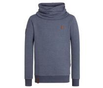 """Male Sweatshirt """"Der Muschiflüsterer"""" blau"""