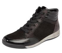 Sneaker high 'Rom-Stf' mit Lacklederdetails schwarz